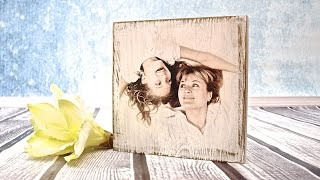 How to do a photo on a wooden board - tutorial  ----- DIY By Catherine  :)