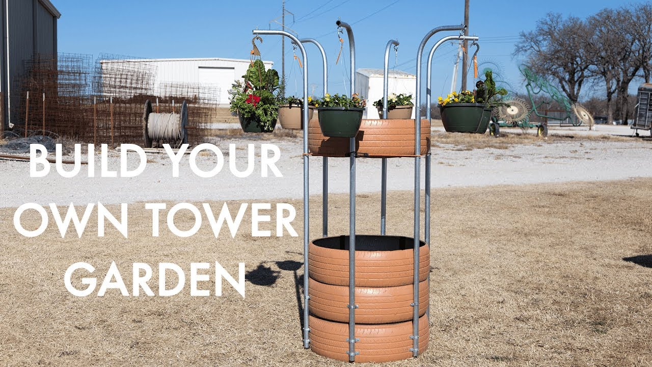 Diy Tower Garden Youtube