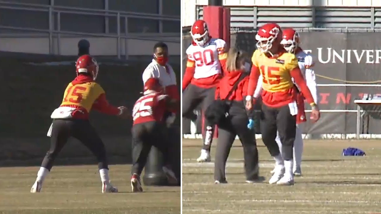 Patrick Mahomes READY To Face Bills, Putting in Work At Chiefs Practice