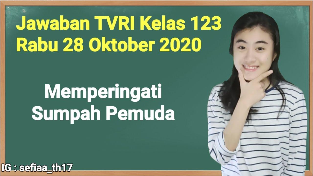 Kunci Jawaban TVRI Kelas 1-2-3 SD Rabu 28 Oktober…