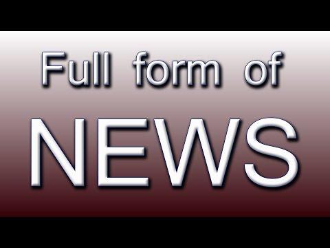 Full form of NEWS