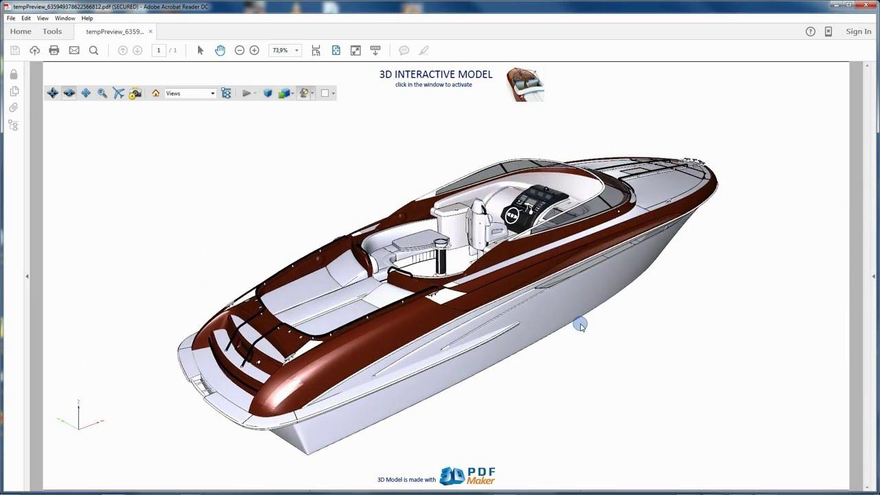 3d pdf maker il nuovo sistema per la presentazione di for Modelli cad 3d free