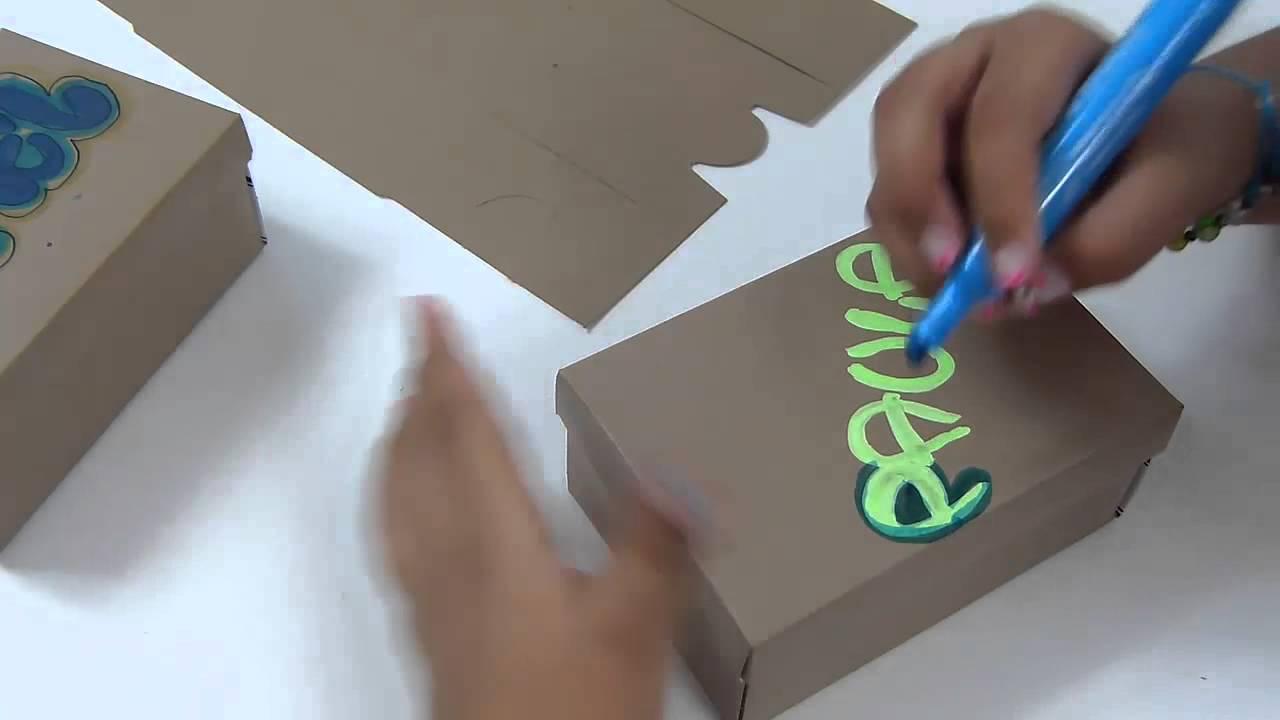 Cajas personalizada con marcador decoradas con mo os en for Cajas personalizadas con fotos