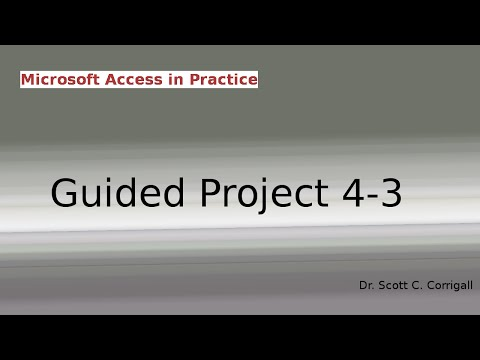 Microsoft Access Guided Project 4-3
