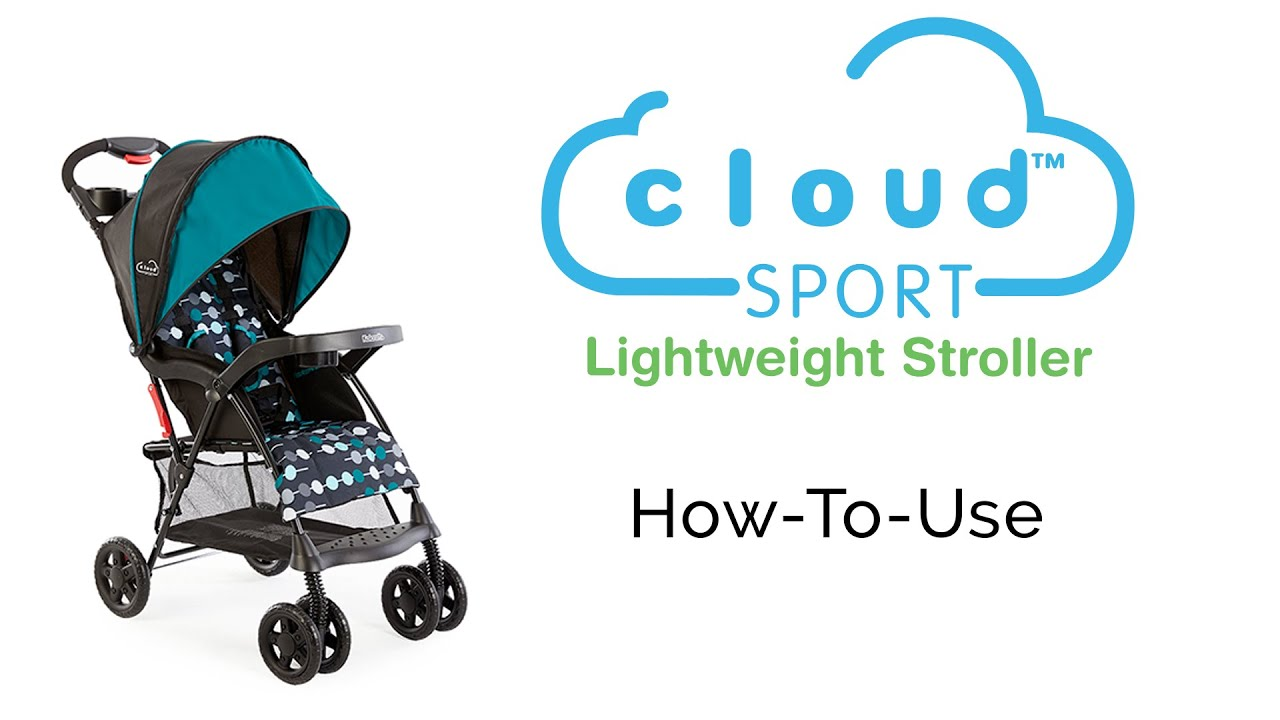 how to use your kolcraft cloud sport lightweight stroller - youtube