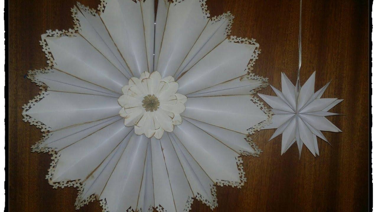 DIY 3D papir Julestjerne der kan foldes fladt sammen - Foldbar 3D Ornament