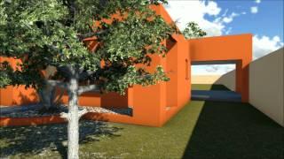 Casas Color Naranja Exterior 2