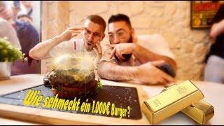 1.000€ Gold Burger essen (24 Karat)