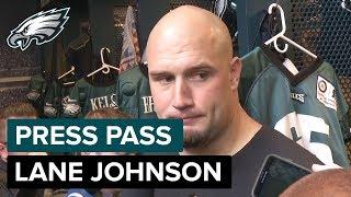 Lane Johnson on Fast, Explosive Dallas Defense | Eagles Press Pass