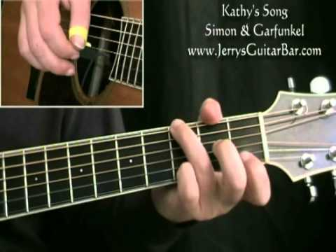 How to Play Simon & Garfunkel Kathy's Song (intro only)