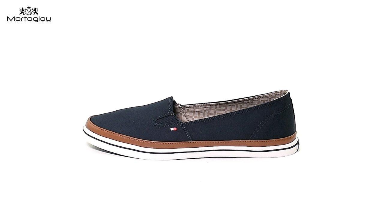 cb94f39a7c3 Tommy Hilfiger Γυναικεία Παπούτσια Casual Kesha7D Μπλε Πάνινο