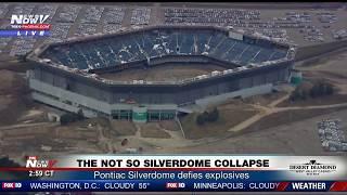 FNN: Pontiac Silverdome Finally Goes Down...Kinda