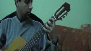 Chromatic Scale Arabic lesson on classical guitar.