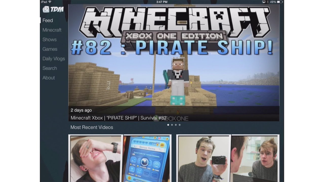 The Diamond Minecart App IOS And Android Official | DanTDM - YouTube
