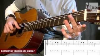 Como Tocar Estrellita (Campanita Del Lugar) / Canciones Faciles Para Guitarra Acústica TCDG