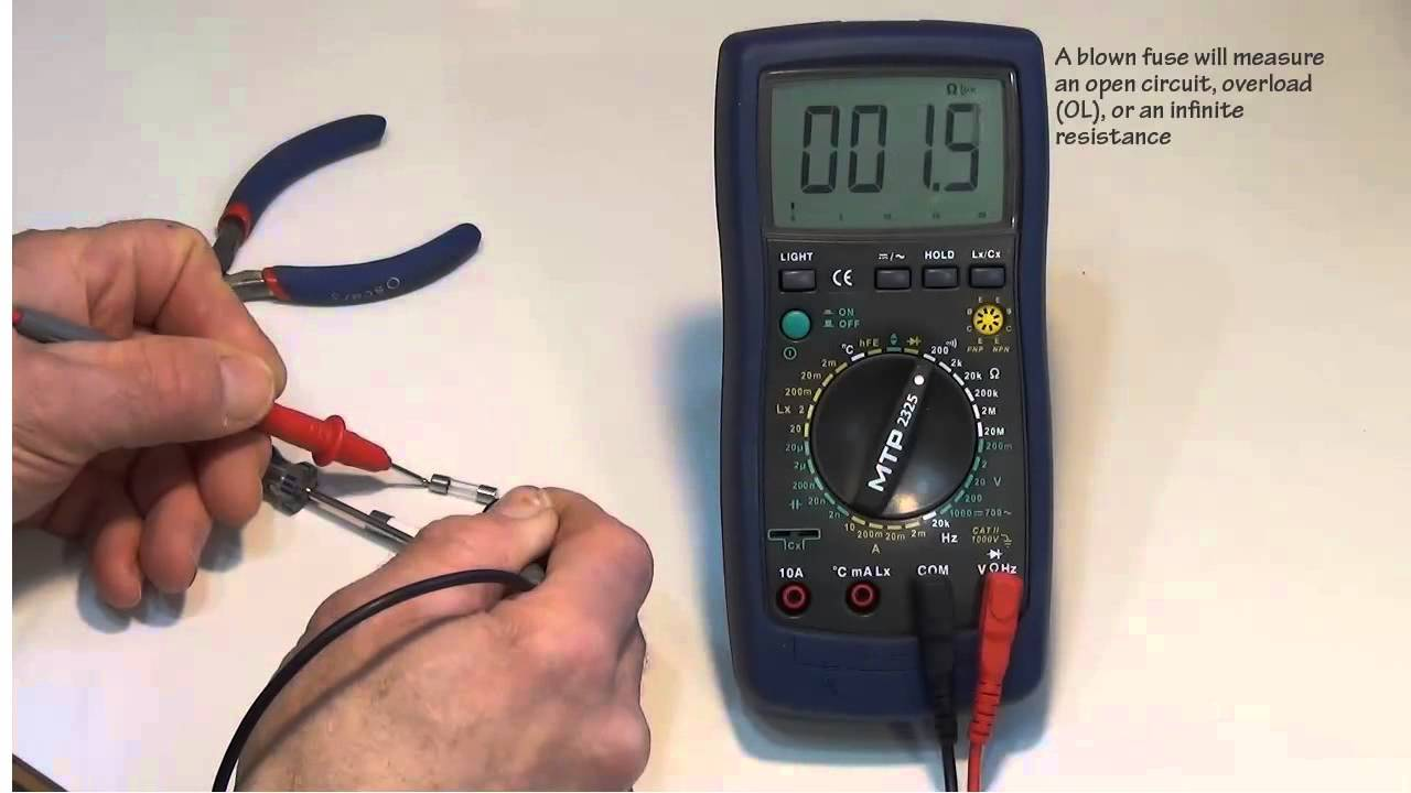 how to change the fuses in a dmm or digital multimeter. Black Bedroom Furniture Sets. Home Design Ideas