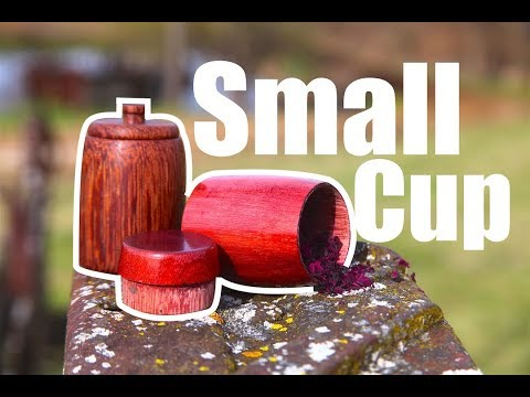 Woodturing a small cup