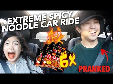 Download Youtube: 6X EXTREME SPICY NOODLE CAR RIDE (I CRIED) | Ranz and Niana