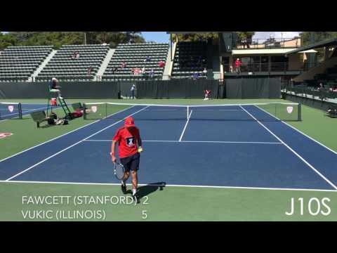 Aleks Vukic (Illinois) vs Tom Fawcett (Stanford)