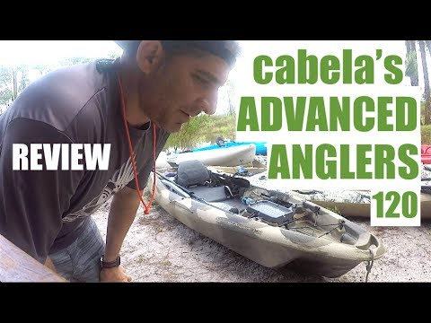 Kayak review cabela 39 s advanced anglers 120 youtube for Cabela s advanced angler 120 trolling motor