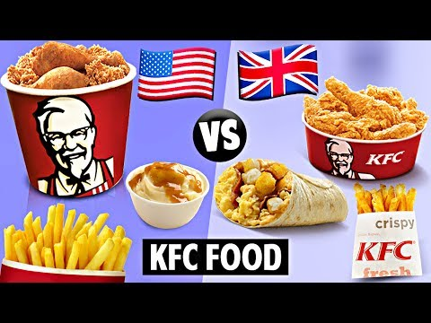 AMERICAN vs. BRITISH KFC Food!!!