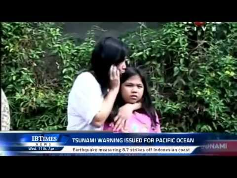 Tsunami warning issued for Pacific Ocean