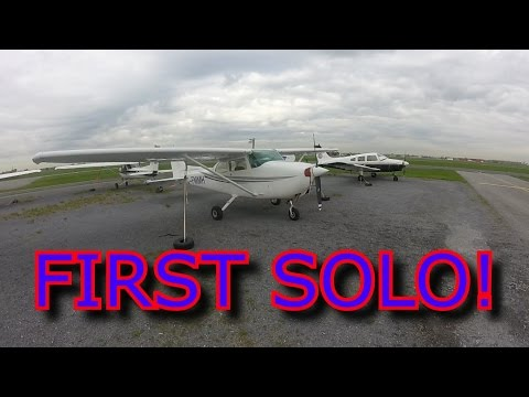 My First Solo Flight! C172 @ CYHU (ATC Audio)