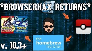 [10.3-10.5] BROWSERHAX IS BACK | How to reach the 3DS Homebrew Channel