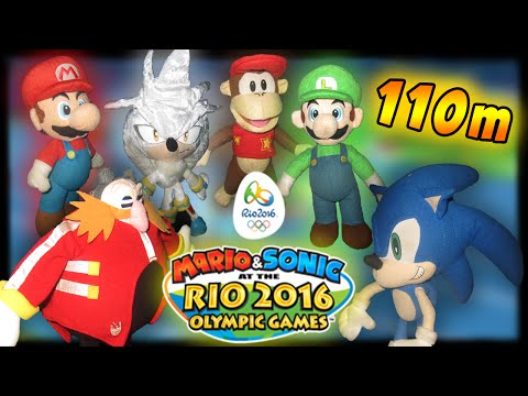 ABM: Mario & Sonic Rio Olympic!! 110m Hundles!! Gameplay Match!!
