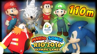 ABM: Mario & Sonic Rio Olympic!! 110m Hundles!! Gameplay Match!!