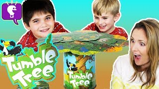 TUMBLE TREE Game with HobbyFamily! Who Gets the Tucan Bird?