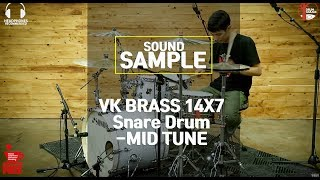[SOUND SAMPLE] VK BRASS 14X7 Snare Drum -MID TUNE- by www.drumgarage.co.kr