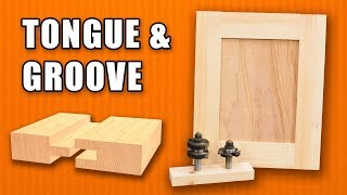 Tongue and Groove / Rail and Stile Router Bits - Shaker Style Doors Making