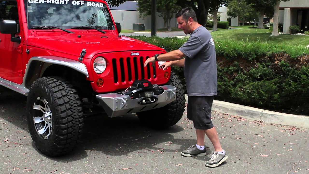 Genright Jeep Jk Bumpers And Warn Zeon Winch Youtube
