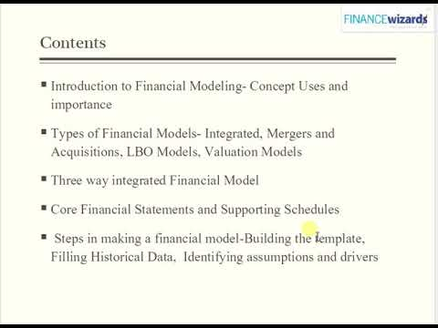 Download Course  details of Introduction to Financial Modeling