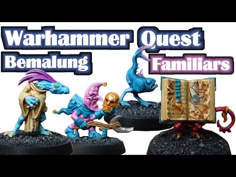 Warhammer Quest Silver Tower Bemalung Familiar Miniaturen fü