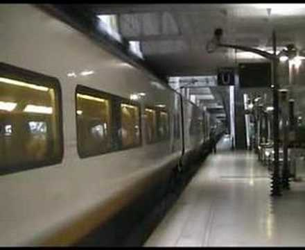 eurostar leaving lille europe youtube. Black Bedroom Furniture Sets. Home Design Ideas