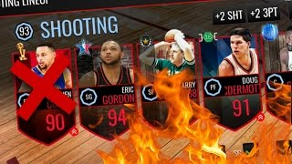 BEST 3PT LINEUP IN THE GAME!!! QUICKSELLING STEPH CURRY!!! - NBA Live Mobile