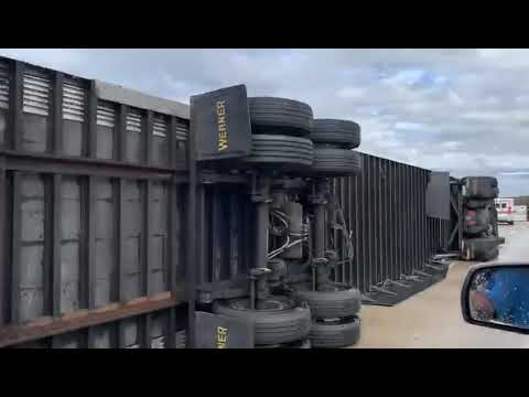 Doc Reno - Winds Push Over Semi-Trucks