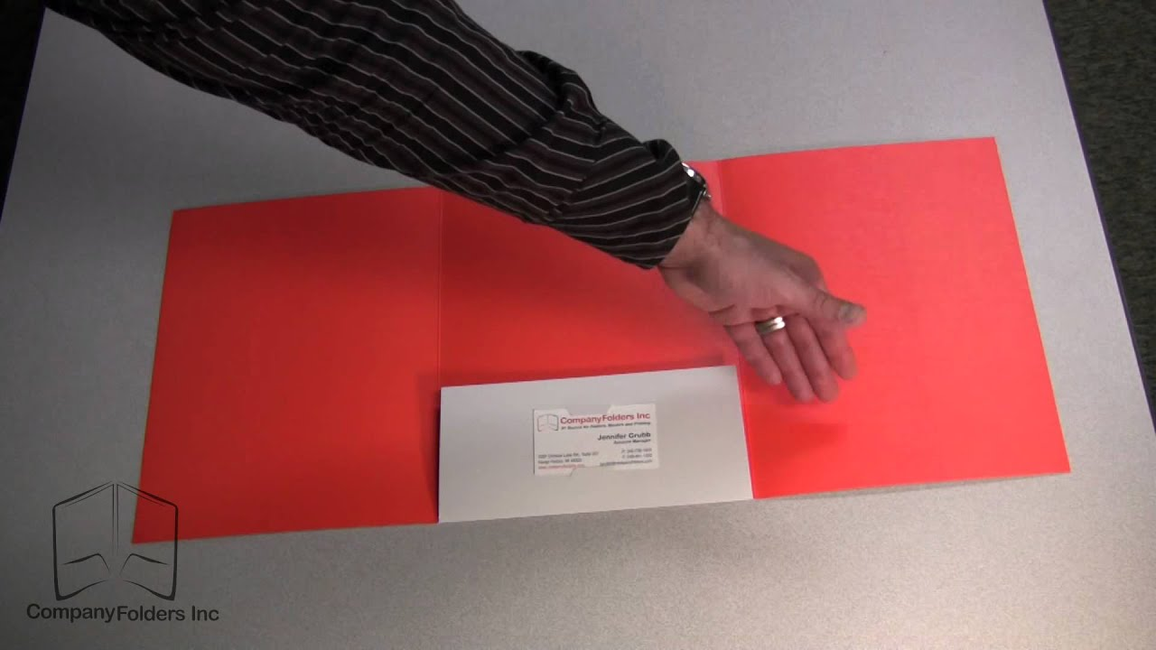 Tri-Panel Center Pocket Presentation Folder - YouTube