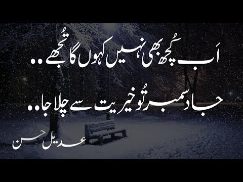 2 line urdu sad heart touching december poetry|urdu sad december shayri|december poetry|Adeel Hassan