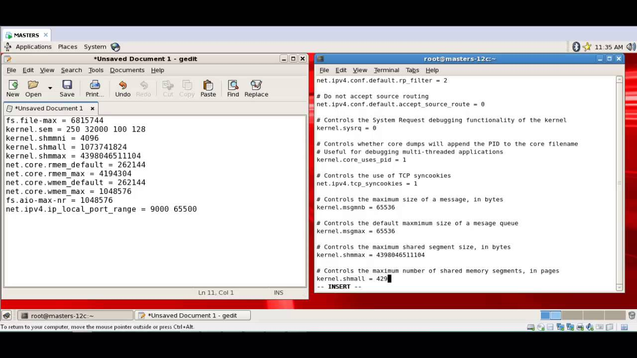 Editing the sysctl conf file - YouTube