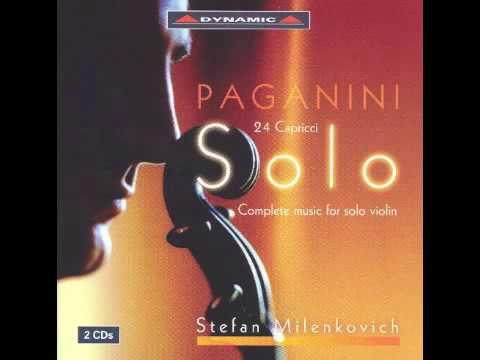 Paganini - Complete music for solo violin CD1