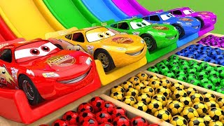 McQueen Car Assembly Surprise Soccer Ball | Street Vehicle with Learn Colors for Kids