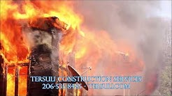BEST Seattle Area Fire and Water Damage Repair Company - Tersuli Construction - 206-535-8485
