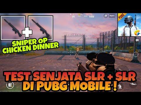 Coba Senjata Slr + Slr di PUBG MOBILE ! Sniper Paling Kuat + Chicken Dinner
