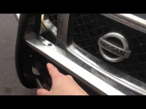 Nissan Pathfinder 3.0 Установка кенгурятника на морду и корму