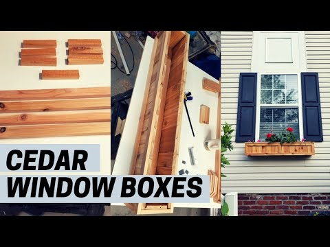 How To Build A Cedar Window Planter Box | Easy DIY Project