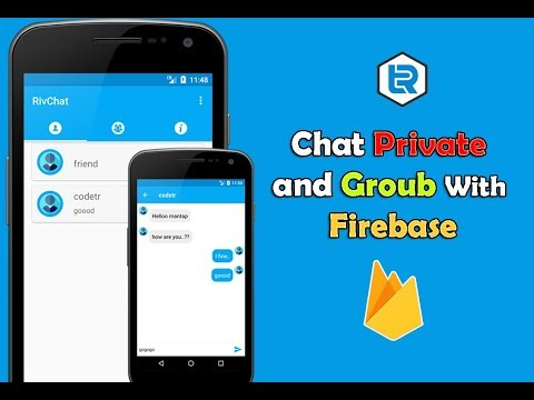 Android Chat Private Groub and Private with Firebase
