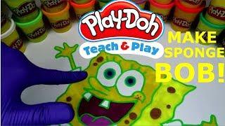 Make Sponge Bob Square Pants! Play-doh Fun :) l SPONGE BOB